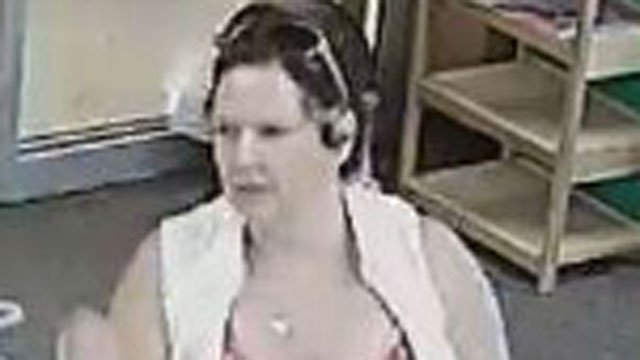 Police are looking for this woman in connection of a shoplifting at a market. (Watertown Police Department)