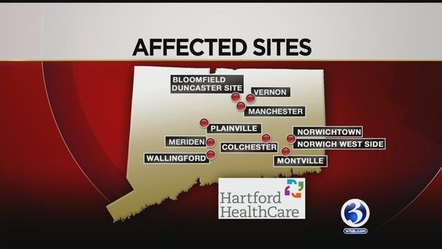 The following locations were affected by the faulty vaccines. (WFSB)