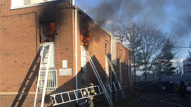 Hartford firefighters knocked down a fire at building on Park Street. (Raul Ortiz)
