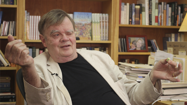 "Garrison Keillor, the former host of ""A Prairie Home Companion,"" said Wednesday he has been fired by Minnesota Public Radio over allegations of improper behavior. (AP Photo/Jeff Baenen, File)"
