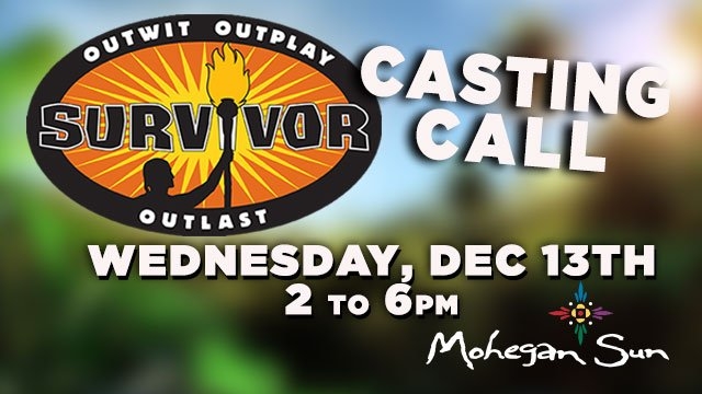 Casting Call for Survivor will be held at Mohegan Sun next month. (WFSB)