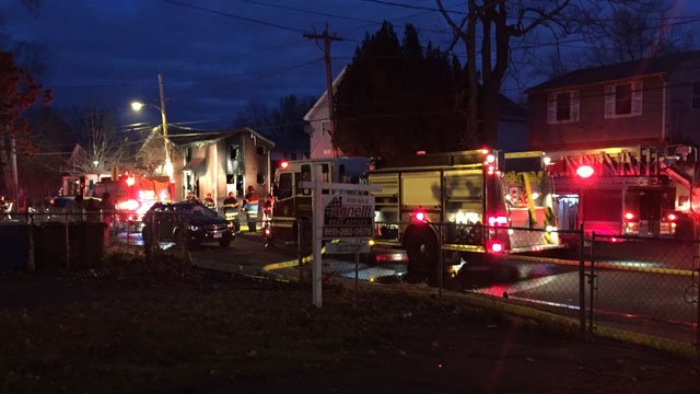 A fire was reported at an apartment complex in Hartford. (WFSB)
