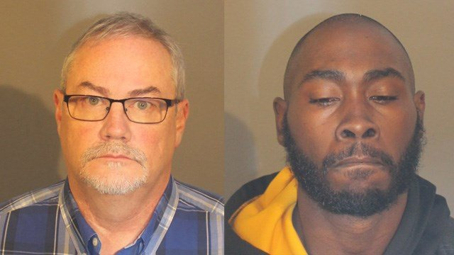 Timothy Connolly and Jamal Jackson were arrested for having sex with a 15-year-old boy in Danbury that they met through a dating app. (Danbury police)