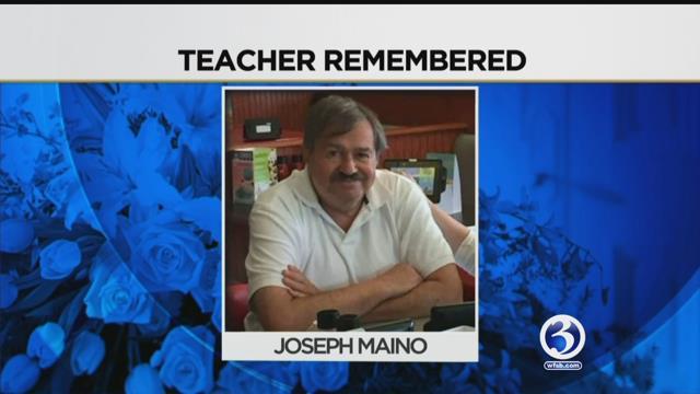 Granby students, teachers and alumni are remember former teacher Joseph Maino. (WFSB)