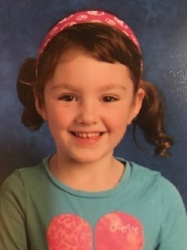 Four-year-old Natasha Thompson of Middletown has been missing since November 29th. (Photo Courtesy of CT State Police).