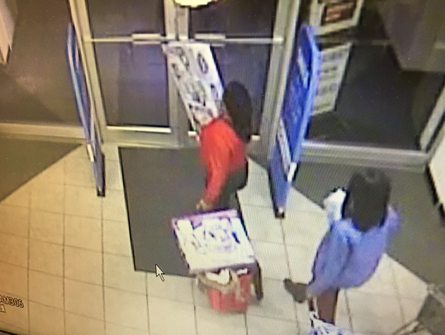 The two woman pictured fled with merchandise after confronting a store employee (Photo Courtesy of East Windsor PD).