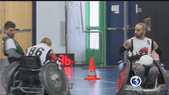 Sports Academy senior organizes wheelchair rugby tournament (WFSB)