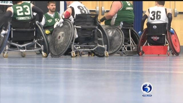 Since 1991, the Connecticut Jammers have been the only quad wheelchair rugby team.  (WFSB)