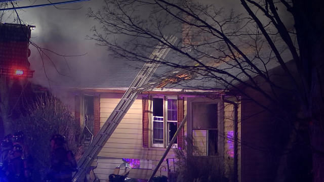 Two people were taken to the hospital for injuries suffered in a house fire in Vernon. (WFSB)