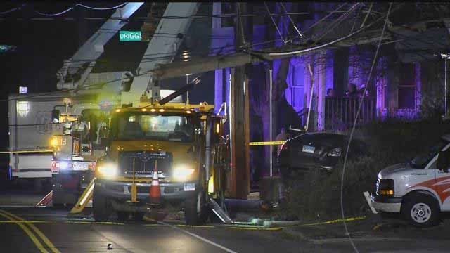The crash happened on Thomaston Avenue on Monday evening (WFSB)