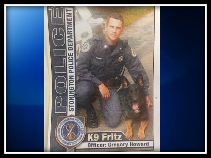 Police are mourning the loss of its former K9 Fritz. (Stonington Police Department/WFSB)