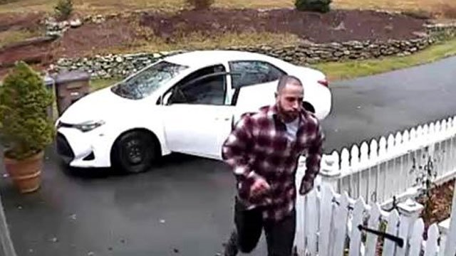 """Police released this photo of the alleged """"porch pirate."""" (Town of Groton Police Department)"""