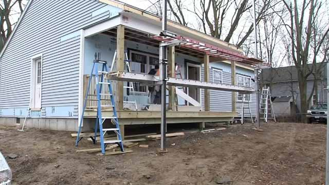 Volunteers are working to rebuild a home that was destroyed by a fire that killed an 8-year-old girl. (WFSB)