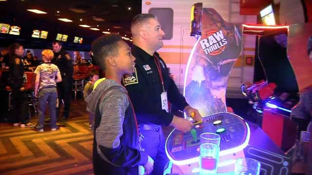 An annual Shop with a Cop event was held in Milford on Tuesday evening (WFSB)