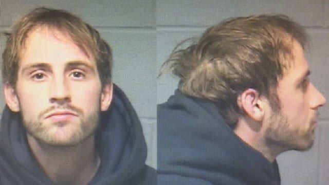 Jason Miller is accused of stealing laptops from the Trinity College campus in Hartford. (Hartford police)