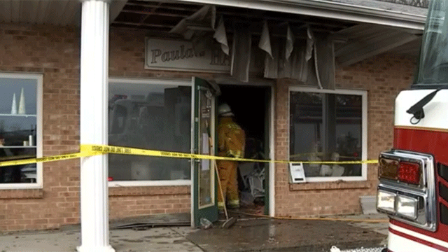 A fire was reported at Liberty Plaza in Orange on Wednesday morning. (WFSB)