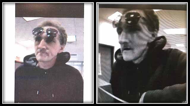 Police are looking for this man who is accused of robbing a bank on Wednesday. (Avon Police)