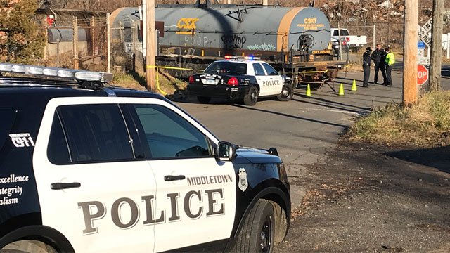 A train derailed in Middletown on Thursday morning. (WFSB)