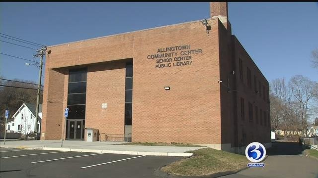 Crews are cleaning up a big mess at a library in West Haven (WFSB)