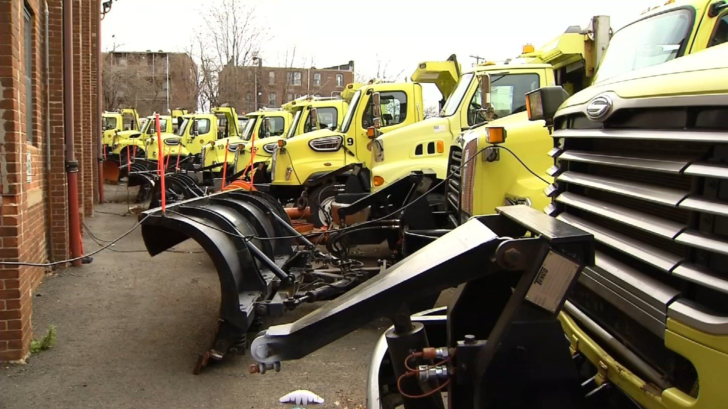 New Britain Mayor Erin Stewart said plow drivers will be working overtime this weekend. (WFSB)