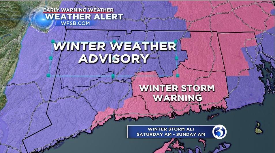 Parts of CT under winter weather warning
