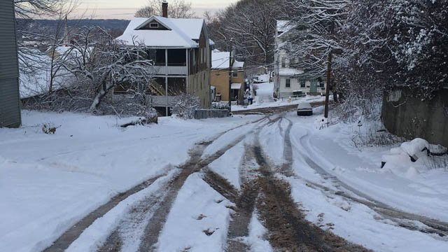 The roads in Waterbury are some of the toughest to plow in the state, plow drivers tell Channel 3. (WFSB)