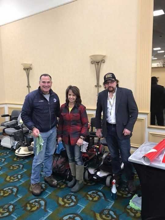 Channel 3's Kevin Hogan poses for a picture with Susan Matera and Phil Pavone, who are part of the many people that put this great event together. (WFSB)