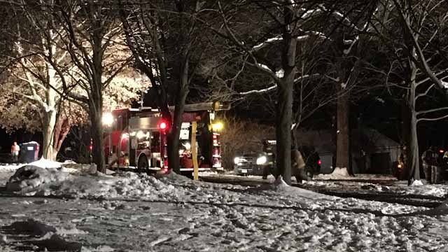 A fire destroyed a home on Bungay Road in Seymour on Sunday night. (WFSB)