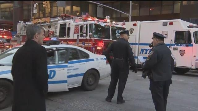 New York City police responded to reports of an explosion near Times Square. (CBS)