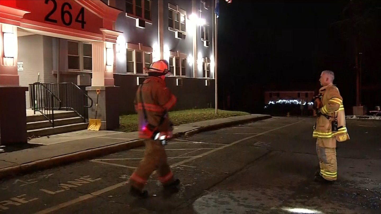 Firefighters responded to an apartment complex fire on High Street in Milford on Tuesday morning. (WFSB)