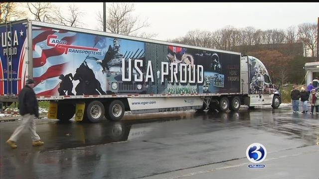 Massive convoy honoring veterans brings out supporters in Lincolnville