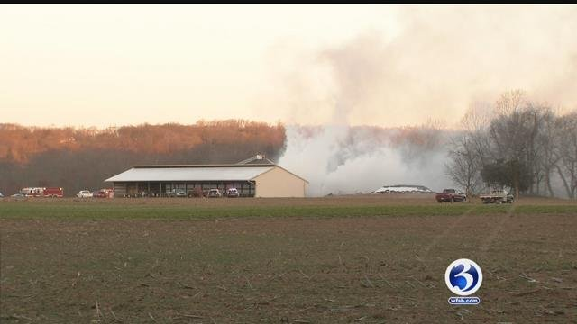 VIDEO: No injuries reported following North Branford barn fire