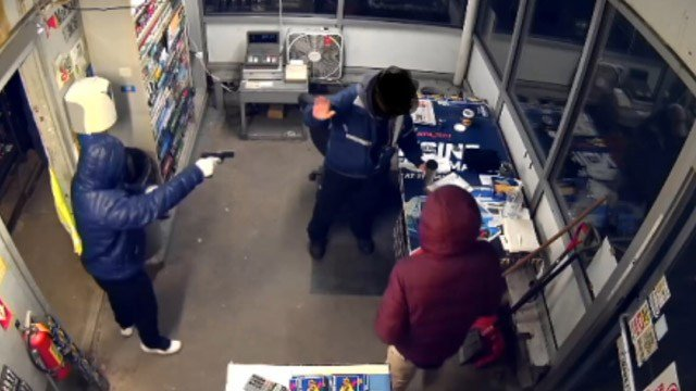 State police responded to an armed robbery at a Sunoco station on Waterbury Road in Prospect Wednesday night. (State police)
