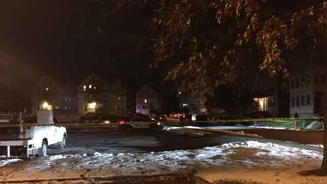 There is a heavy police presence on Chapman Street in New Britain (WFSB)