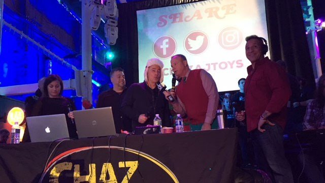The Chaz and AJ McDermott Chevrolet and Lexus Toy Drive got underway at Jordan's Furniture in New Haven on Friday. (WFSB)