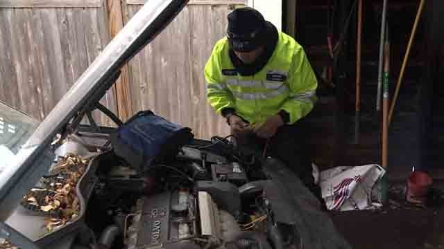 AAA was busy on Friday as drivers dealt with cold temps (WFSB)