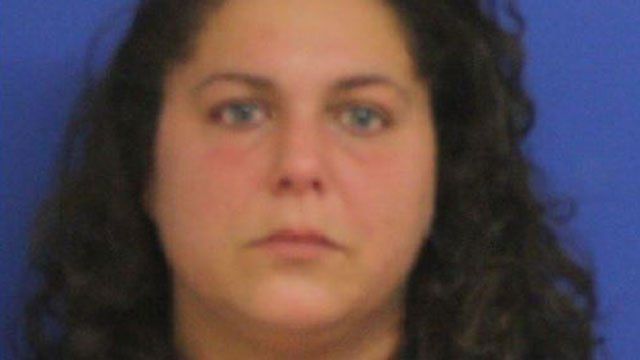 Nicole Bova was arrested after police said she stole a donation jar for cancer research from a liquor store in East Haven last month. (East Haven Police Department)