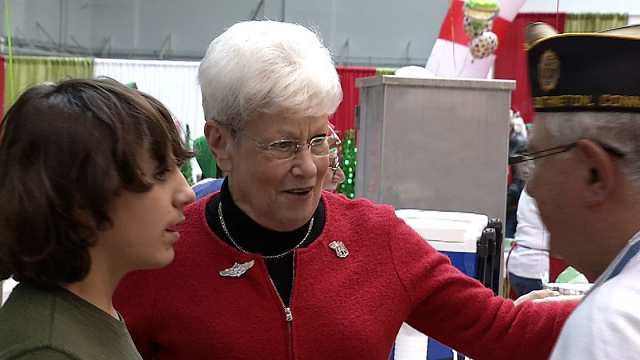 Lt. Gov. Wyman attended the Operation ELF event today and chatted with military families. (WFSB)