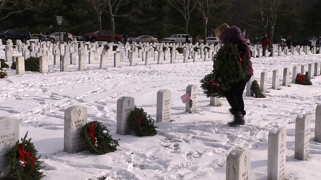About 9,000 wreaths will be laid on the grave sites of Connecticut service men and women (WFSB)