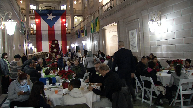 A celebration of tradition took place at Hartford City Hall for members of the Puerto Rican community who have relocated after Hurricane Maria. (WFSB)