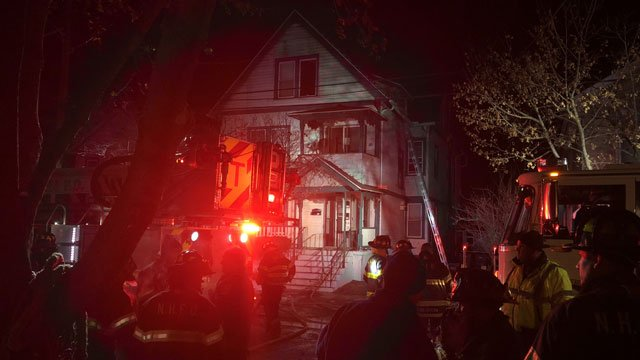 Firefighters battled a house fire in New Haven on Sunday morning. (WFSB)