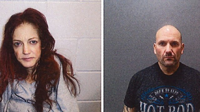 Amy Wiese and Joseph Silva were arrested after drugs were found in their possession. (Plainfield Police Department)