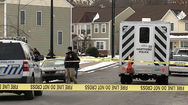 Police said a man was shot and killed on Van Block Avenue in Hartford on Sunday afternoon. (WFSB)