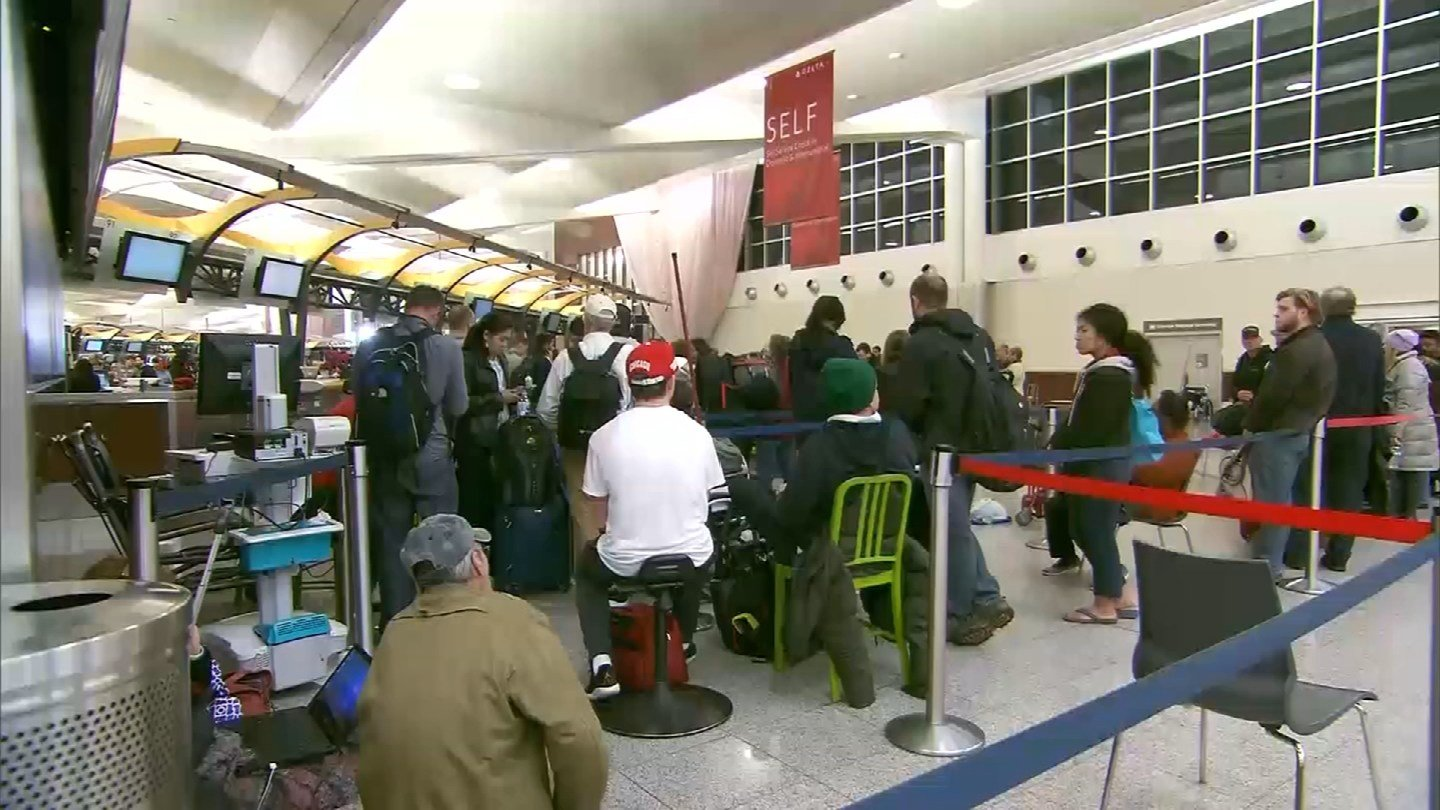 The power outage at Atlanta's airport affected flights going to and from Bradley International Airport in Windsor Locks. (WFSB)