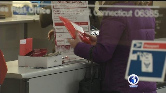 The postal service is wrapping up its busiest time of the year. (WFSB)