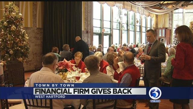 A CT financial firm gives back to the community at holiday brunch (WFSB)