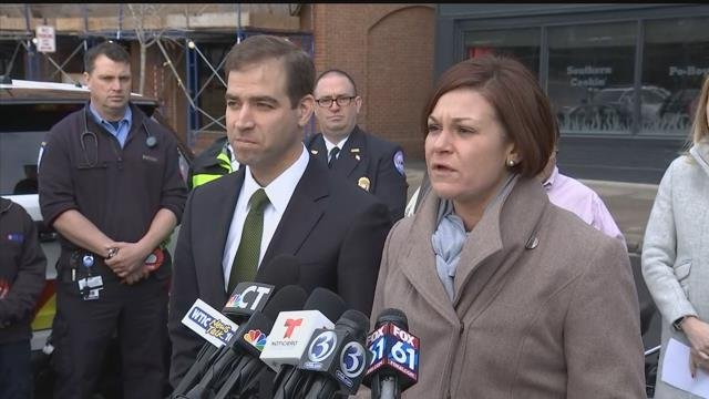 MADD, police and local leaders talk about holiday driving safety. (WFSB)