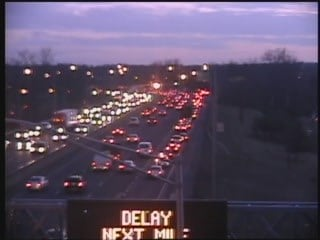The crash has caused a traffic back up on I-91 (CT DOT)