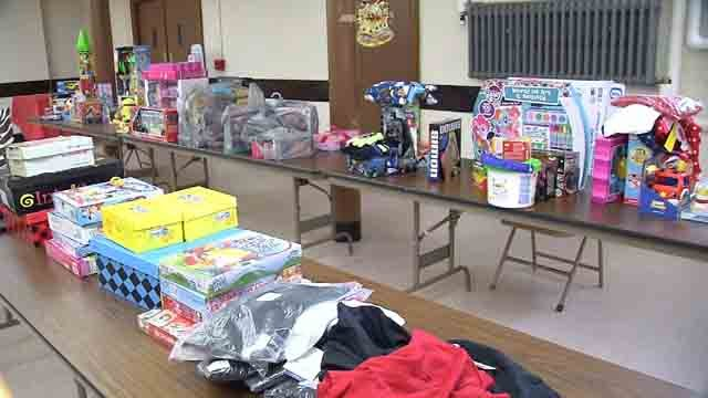 A church in Waterbury is collecting donations for families this Christmas (WFSB)