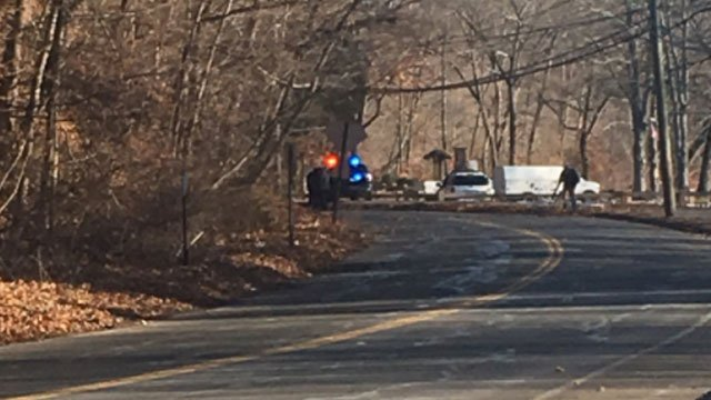 A high school student was severely injured in single vehicle crash in Meriden on Thursday morning. (WFSB)